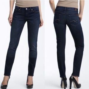 7 for all mankind Gwenevere mid rise slim jeans